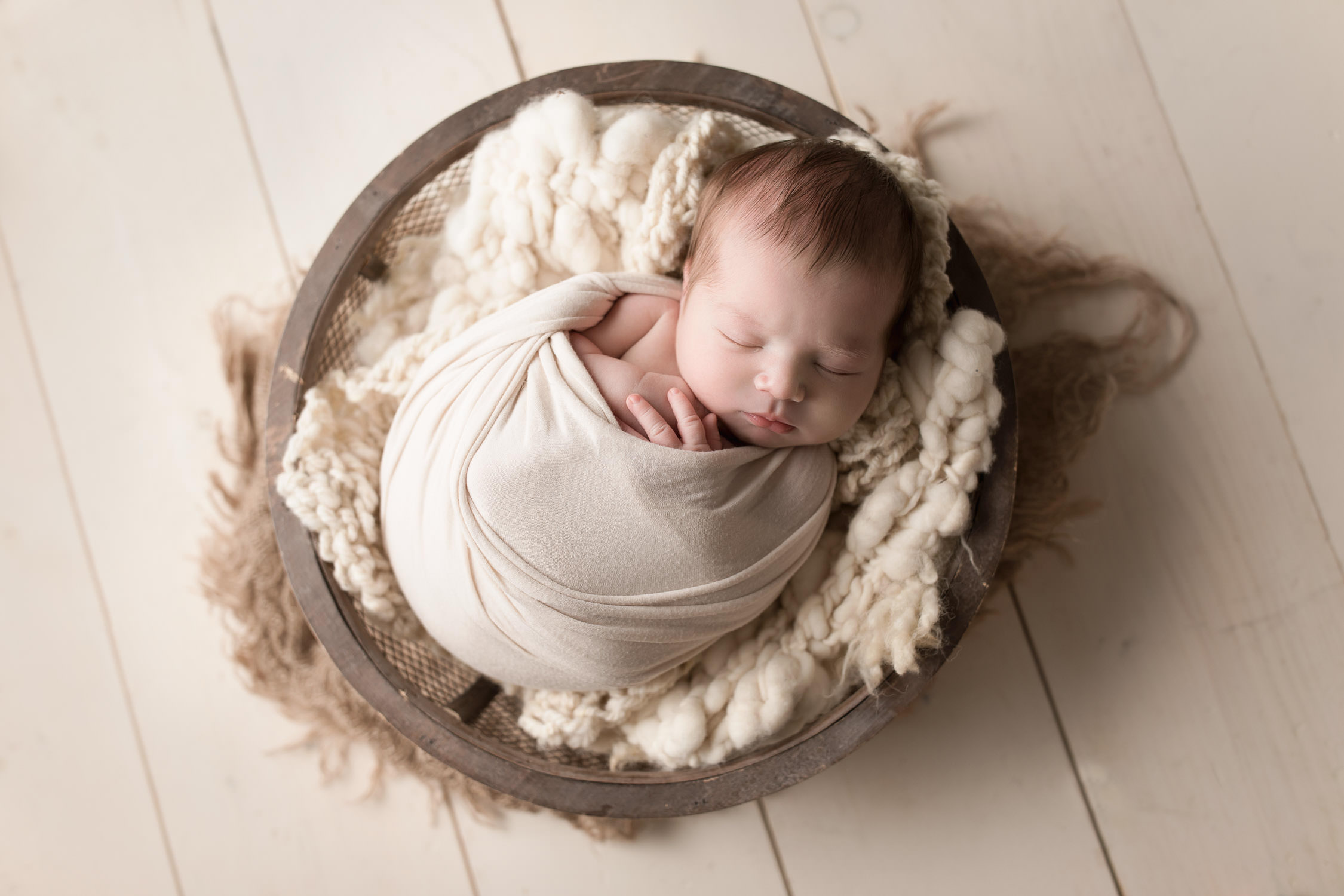 Posed newborn portraits
